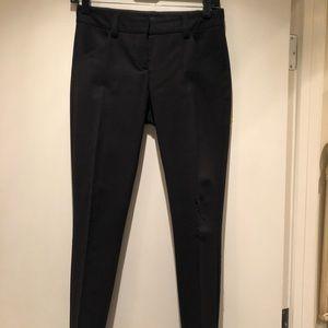 Theory black tailored narrow pencil pants